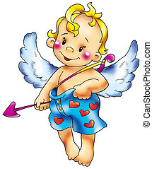 Cupid in intimate co - Cupid congratulates all in love with...