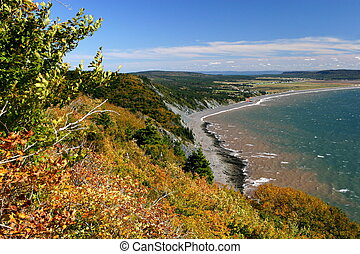 CapeChignecto Shore - Coastal shore line from top of Cape...