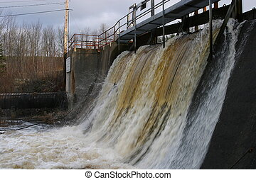 small power dam - Power dam, water pipe, Berwick, Nova...
