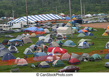 Folk Festival Tents - Camper tents at Stanfest, folk music...