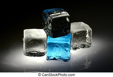 Ice Cubes - Photo of Ice Cubes - Melting Ice