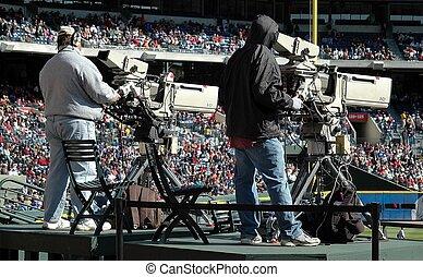 Television Cameraman - Photographed television camerman at...