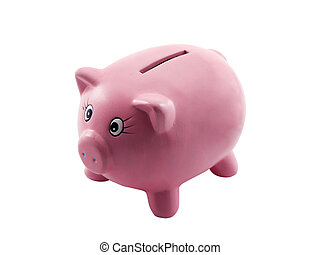Piggy Bank - Photo of a piggy bank isolated on white