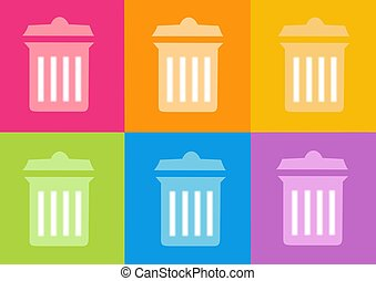 trash icon - 3d trash icon - computer generated clipart