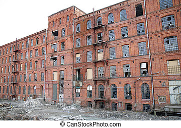 an old manufacture in Lodz - Poland