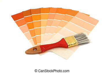paint swatches - rusty and orange shade paint swatches, and...