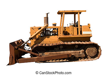 Old Dozer Side View - This is a side view of an old...