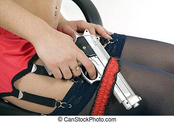 Gun in garter