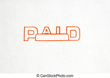 "Paid - The word ""Paid"" on a white background."