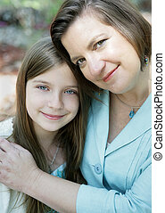 Mother & Daughter Love - A loving portrait of a beautiful...