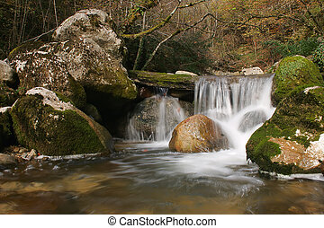 Water falls - Cascade in the medium of nature