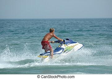 Jet-ski - Young man and his jet-ski