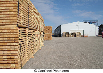 lumber and warehouse territory in perspective view