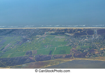 View onto Sylt - View onto the middle part of the island...