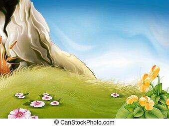 Meadow & rock