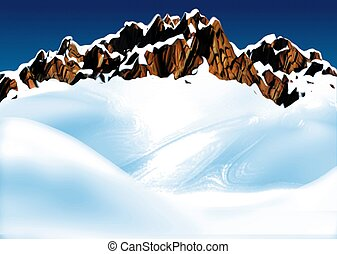 Mountain ridge - Highly detailed cartoon background 37 -...