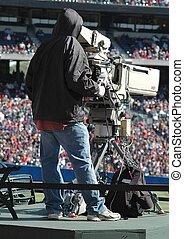 televisión, cámara