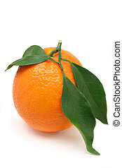 Orange with leaves - Organically grown orange with leaves