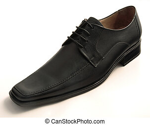 Leather shoe - Black leather shoe for men
