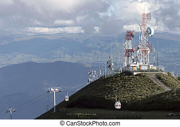 Panorama of Quito - Panorama of city of Quito from height of...