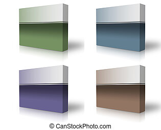 blank box  over white background- computer generated clipart