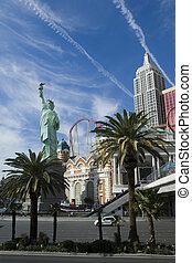 Las Vegas Strip - New York, New York casino skyline on Las...