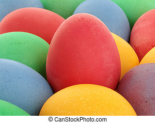 colored eggs - close-up of some colored eggs as a background