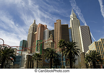 New York New York - New York casino skyline on Las Vegas...