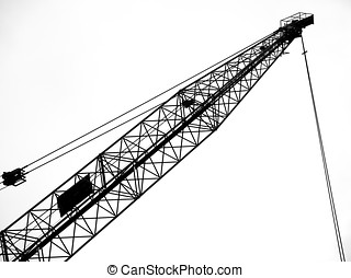 Large Scale Crane - -- seen in outline form with its steel...