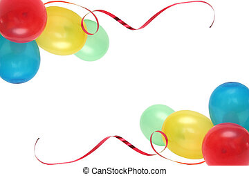 Balloons - Plenty of colorful balloons on a white background