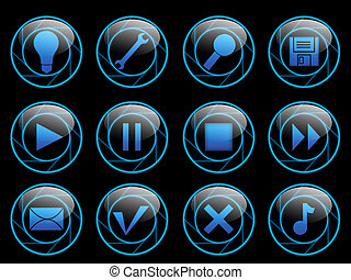 Icons - Luminous buttons
