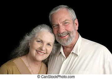 Mature Couple on Black