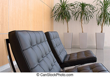 Lobby - Two chairs in a business lobby