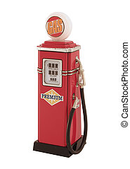 gas Pump - An antique, tin toy gas pump