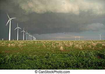 Midwestern Windfarm - Wind farm in the central united...