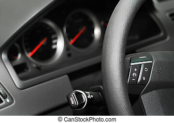 Control panel of the modern new car