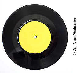 Old 45rpm record - A 1960s record, photographed on a white...