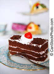 Chocolate sensation vertical - A slice of delicious...