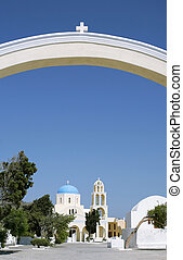 Church compound 2 - The arch at the entrance to a Greek...