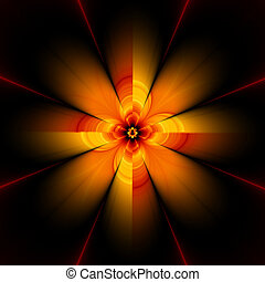 fractal flower, 30H - Abstract flower design, generated from...