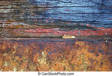 Rusted Wood and Iron - Interesting texture and colors from...