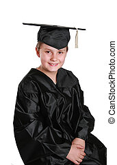 Graduation to middle school - A young man graduating to...