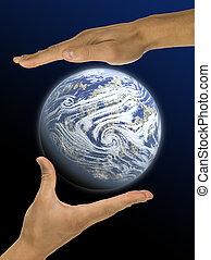 ecología, Manos, Responsabilidad
