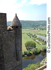 Dordogne and Chateau Beynac tower