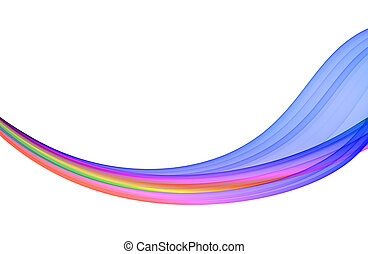 multicolored abstraction on white background, high quality...