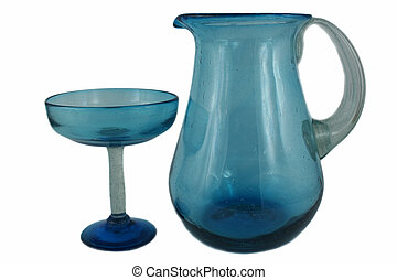 Margarita pitcher and glass set - an image of a Margarita...