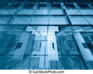 Through the levels - Transparent architectural abstract -...