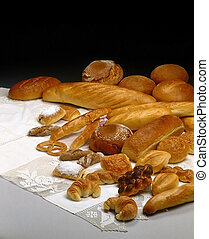 Breads - Assorted composition of breads on table