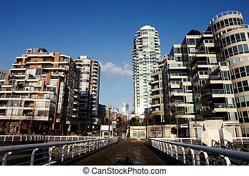 stad,  Vancouver, scen