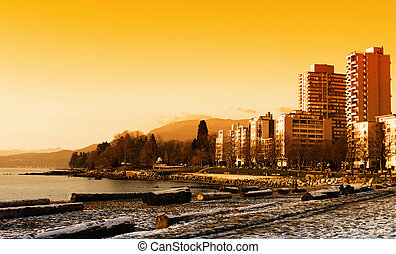 Stanley Park, Vancouver - Stanley Park Sunset in Winter